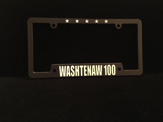 Washtenaw 100 License Plate Holder