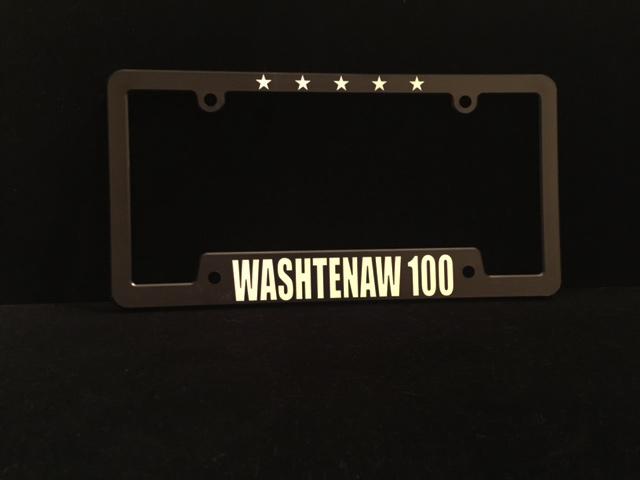Washtenaw 100 License Plate Holder